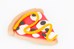 Plasticine  pizza. Royalty Free Stock Image