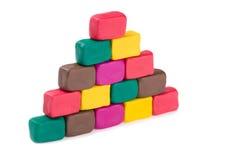 Plasticine pyramid Stock Image