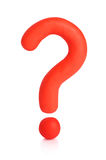 Plasticine Question Mark. Clipping Path