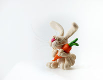 Plasticine rabbit. Stock Image