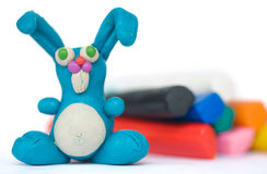 Plasticine rabbit Royalty Free Stock Images