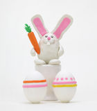 Rabbit with easter egg Stock Photo