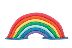 Plasticine rainbow Royalty Free Stock Photo