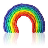 Plasticine rainbow Royalty Free Stock Photography
