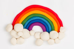 Plasticine rainbow. Royalty Free Stock Photos
