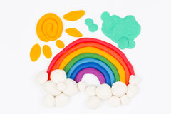 Plasticine rainbow. Royalty Free Stock Images