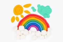 Plasticine rainbow. Royalty Free Stock Images