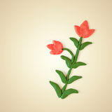 Plasticine red flowers Royalty Free Stock Image