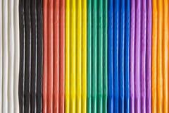 Plasticine - regenboogkleuren Stock Foto