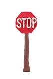 Plasticine road sign Stock Photography