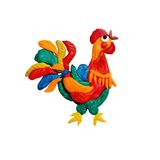 Plasticine  Rooster symbol of 2017 sculpture isolated Stock Images