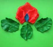 Plasticine. Rose petals. Stock Images