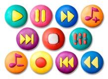 plasticine s παιδιών κουμπιών Στοκ φωτογραφία με δικαίωμα ελεύθερης χρήσης