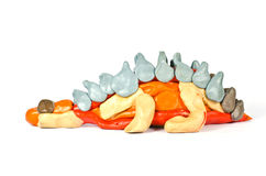 Plasticine sculpture of a dinosaur Royalty Free Stock Image