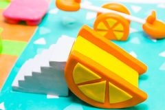 Plasticine see saw. Clay model Stock Images