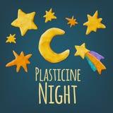 Plasticine Shapes Set Royalty Free Stock Image