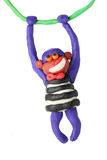 Plasticine smiling monkey Stock Image