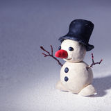 Plasticine snowman Royalty Free Stock Photography