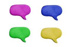 Plasticine speech bubble Royalty Free Stock Photography