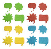 Plasticine speech bubbles Stock Photo