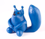 Plasticine squirrel Royalty Free Stock Images