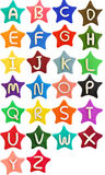 Plasticine star letter a-z Stock Photography