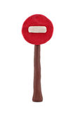 Plasticine stop road sign Stock Image