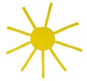 Plasticine sun Royalty Free Stock Photo