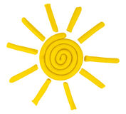Plasticine sun Royalty Free Stock Photos