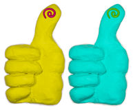 Plasticine thumbs up Stock Images