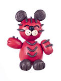 Plasticine tiger. Chinese horoscope Stock Image