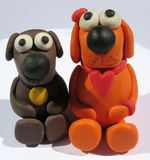 A plasticine toys. Handmade Royalty Free Stock Photos