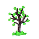 Plasticine tree. Which is represented on a white background Stock Photo