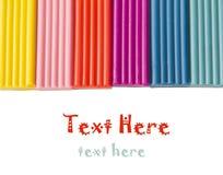 Plasticine van de kinderen van de kleur op een witte achtergrond Royalty-vrije Stock Foto's