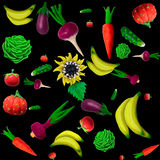 Plasticine vegetables background. Made of plasticine background of vegetables and other plants Royalty Free Illustration