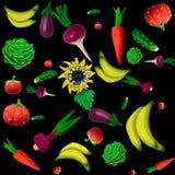 Plasticine vegetables background. Made of plasticine background of vegetables and other plants royalty free illustration