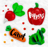 Plasticine vegetables carrot Stock Image