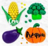 Plasticine vegetables pumpkin Royalty Free Stock Photography