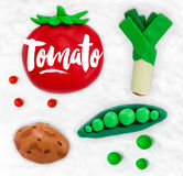 Plasticine vegetables tomato Royalty Free Stock Photos