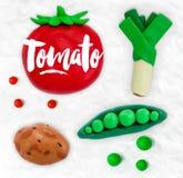 Plasticine vegetables tomato Royalty Free Stock Photos