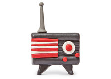 Plasticine Vintage Transistor Radio Stock Image
