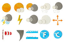Plasticine weather icons Stock Photo