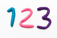 Plasticine on white background Royalty Free Stock Images