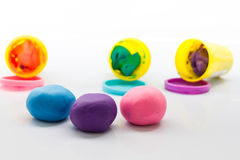 Plasticine on white background Royalty Free Stock Image
