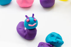 Plasticine on white background Royalty Free Stock Photos
