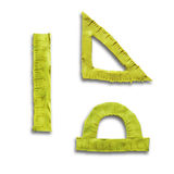 Plasticine yellow rulers Royalty Free Stock Images