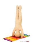 Plasticine yoga man Stock Images