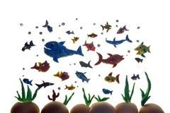 Plasticinefische lizenzfreie abbildung