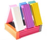 Plasticinehaus Lizenzfreies Stockbild