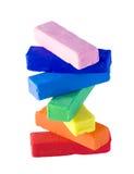 Plasticinestapel Lizenzfreies Stockfoto